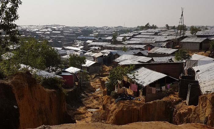 The camp at Cox's Bazar, Bangladesh