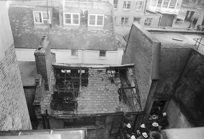 Historical picture of Denmark street fire