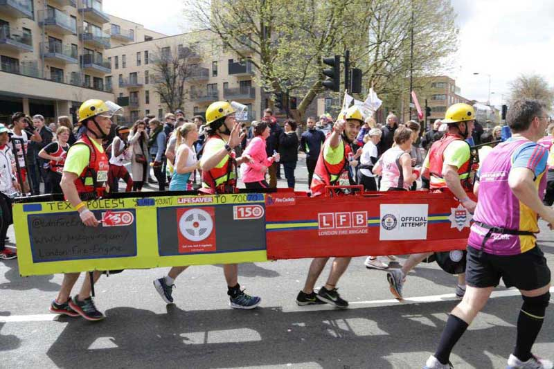 London Fire Brigade at London marathon