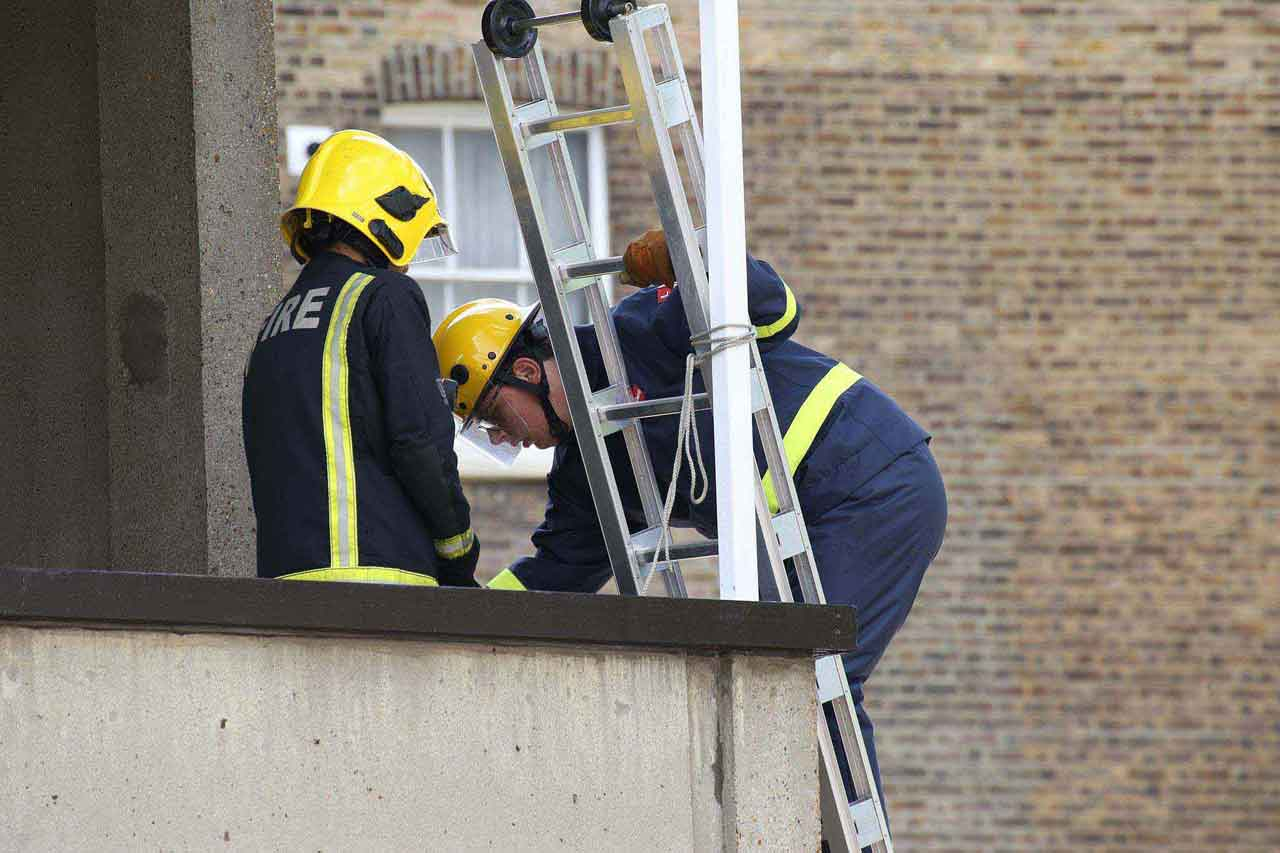 Fire Cadets training