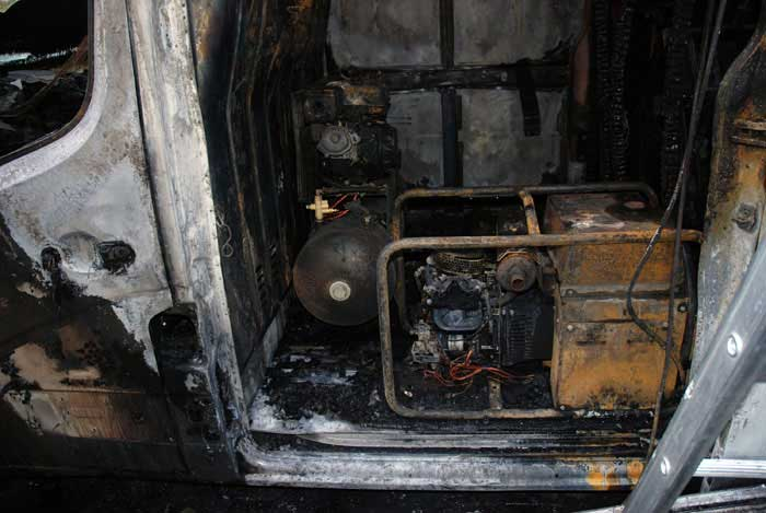 Van on Marestreet fire