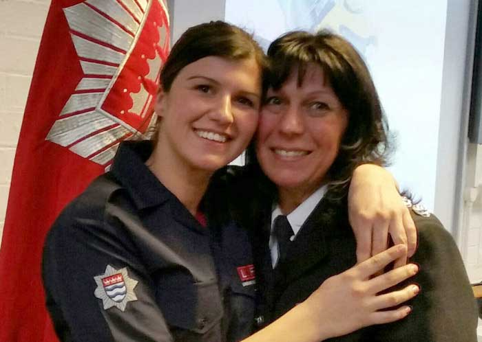 Mother and daughter Firefighters