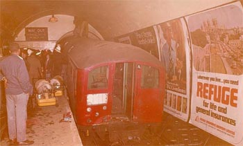 Historic pictures of the Moorgate Station fire