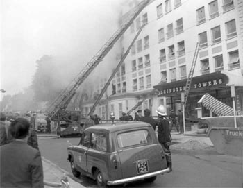 Historical fire at the Leinster Towers