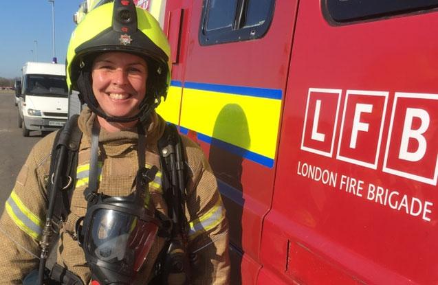 Kerrie Fisher, Firefighter apprentice   London Fire Brigade