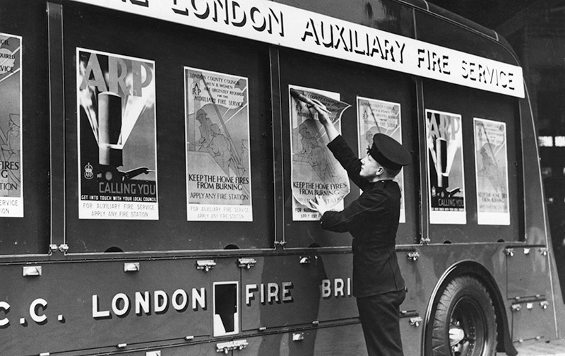 Auxiliary Fire Service recruitment posters